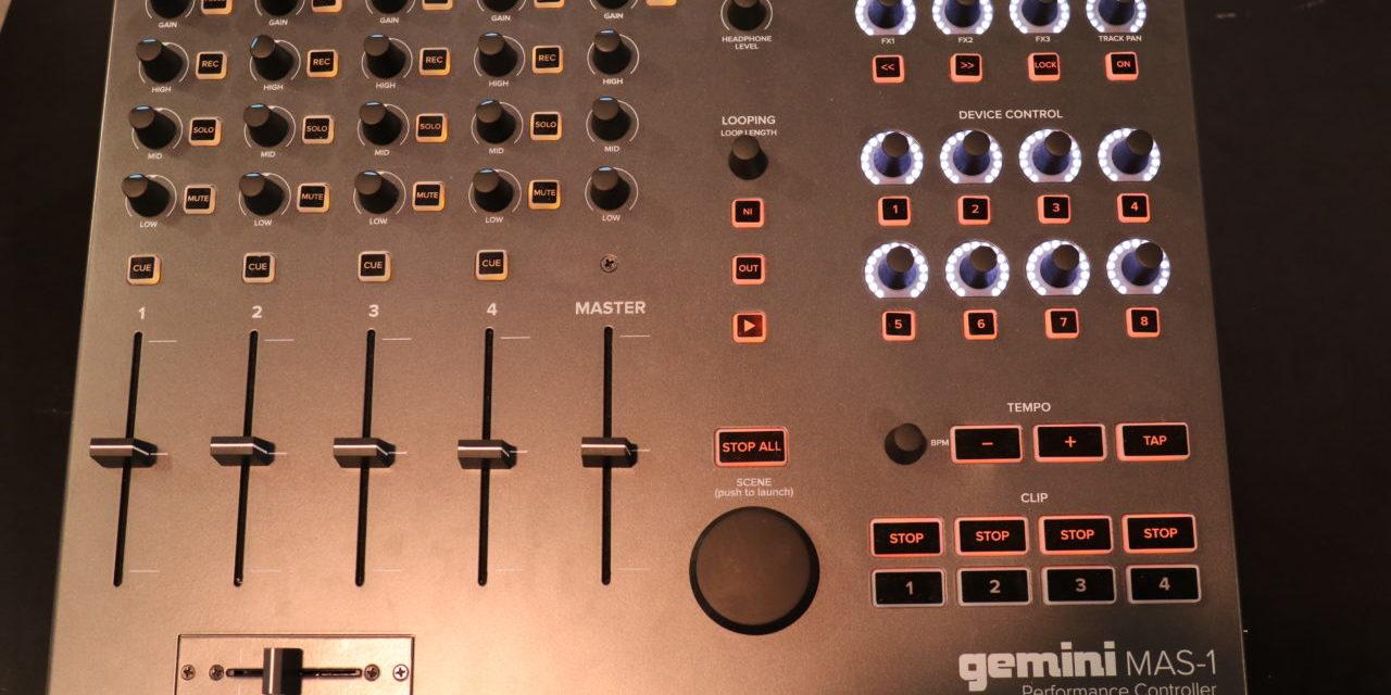 Gemini MAS-1, Ableton Live au bout des doigts