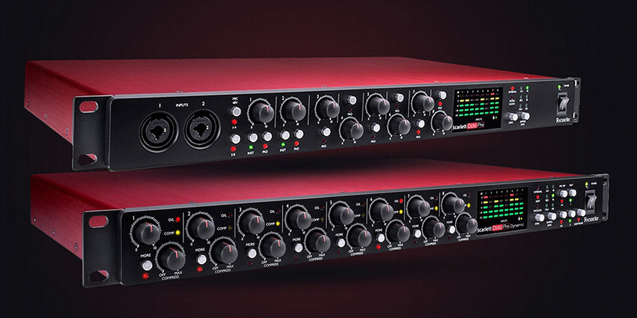 Interfaces Scarlett OctoPre et OctoPre Dynamic Focusrite