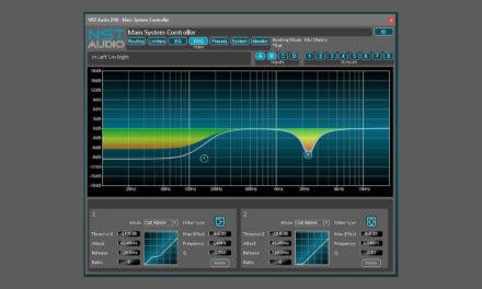 NST Audio D-Net, logiciel de contrôle pour processeurs