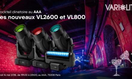 PRÉSENTATION VARI-LITE VL2600 ET VL800 le 14 Mai 2018