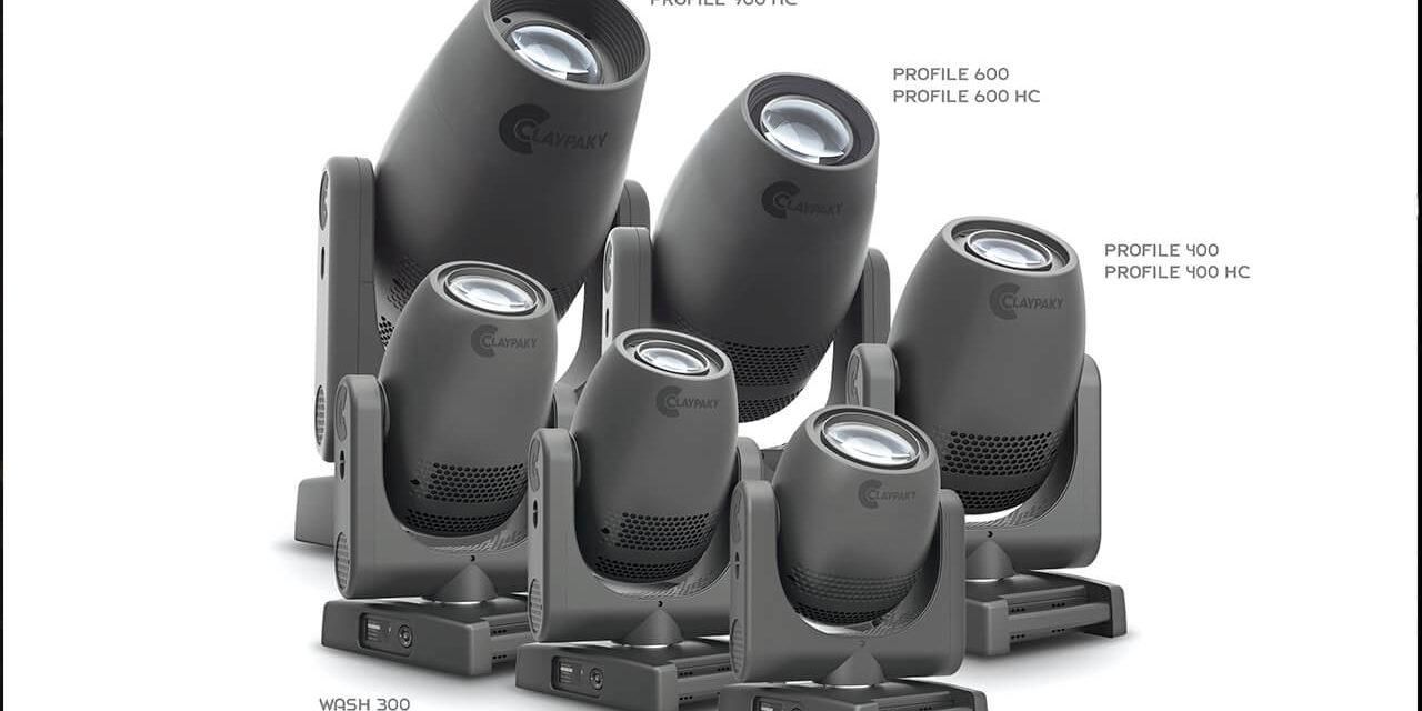 CLAY PAKY AJOUTE LES AXCOR PROFILE 600 ET 400 À LA SÉRIE AXCOR LED