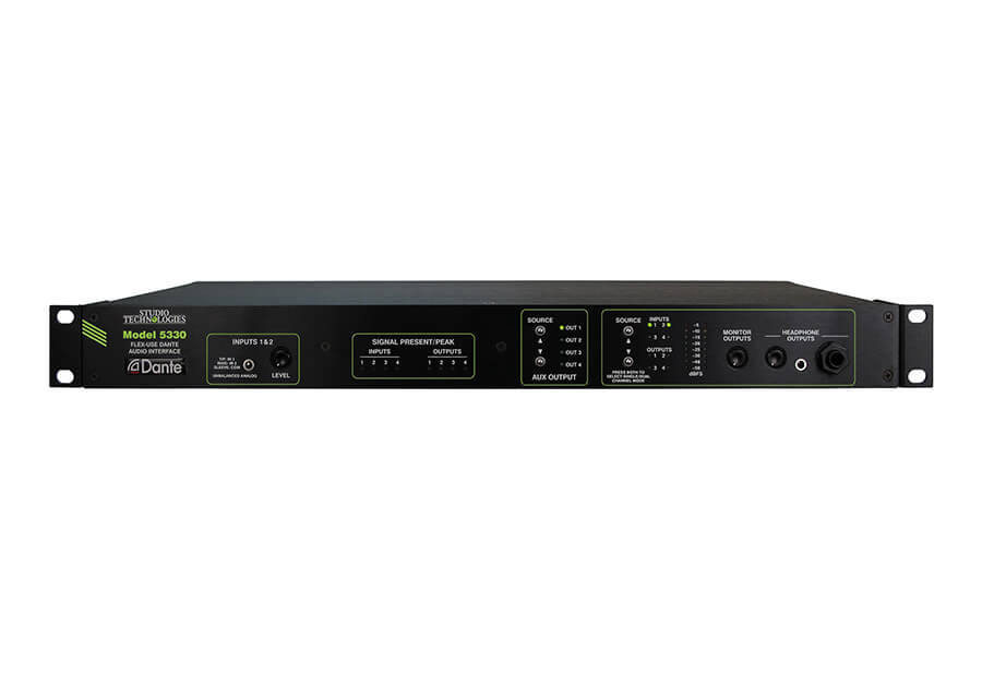 STUDIO TECHNOLOGIES MODEL 5330, I/O VERS DANTE