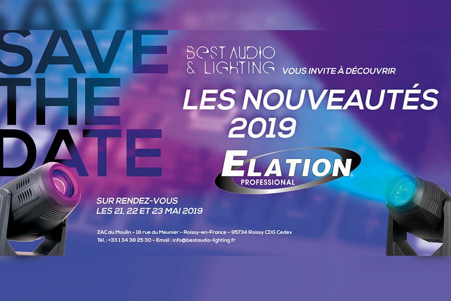 Découverte des nouveautés 2019 Elation Professional les 21, 22, 23 mai