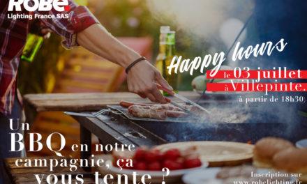 Le 3 juillet, Happy Hours chez Robe Lighting France