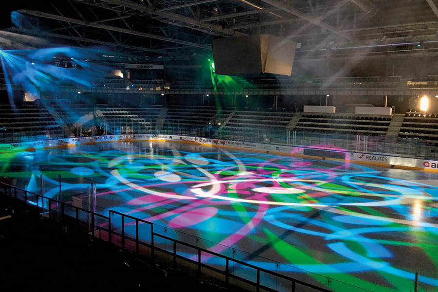 ILLUMINATIONS À LA PATINOIRE D'ANGERS