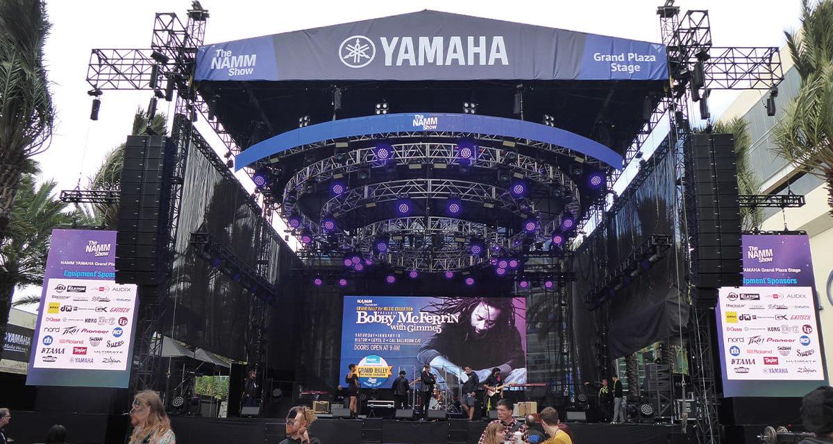 Nexo et Yamaha sous les sunlights