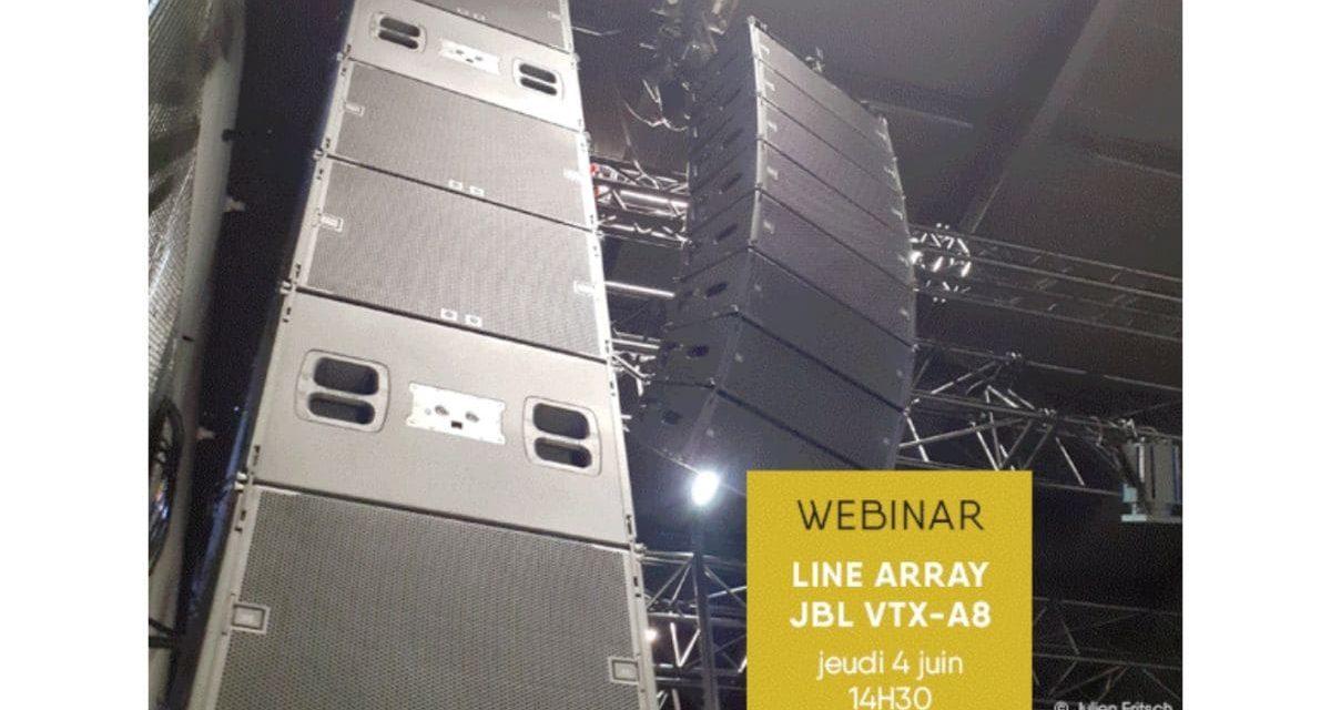 Webinaire JBL VTX-A8, jeudi 4 juin à 14h30