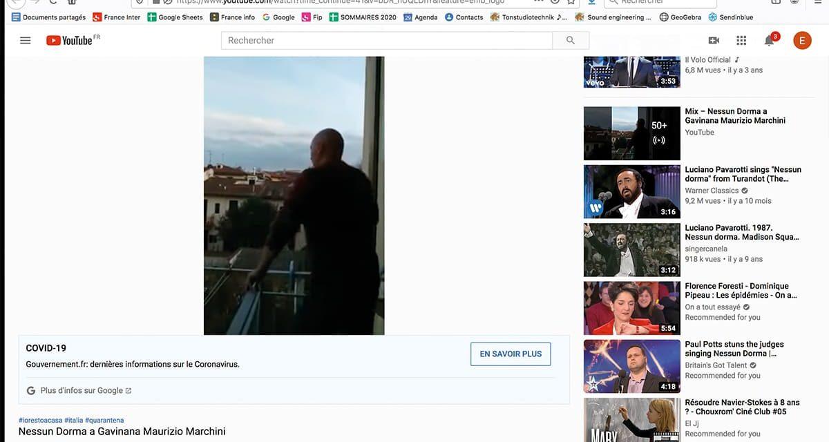Artistes italiens à la fenêtre