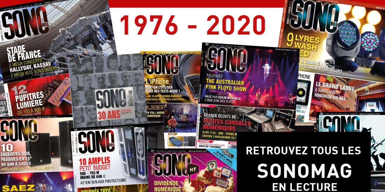 tous les magazines SONO Mag de 2020 à 2007