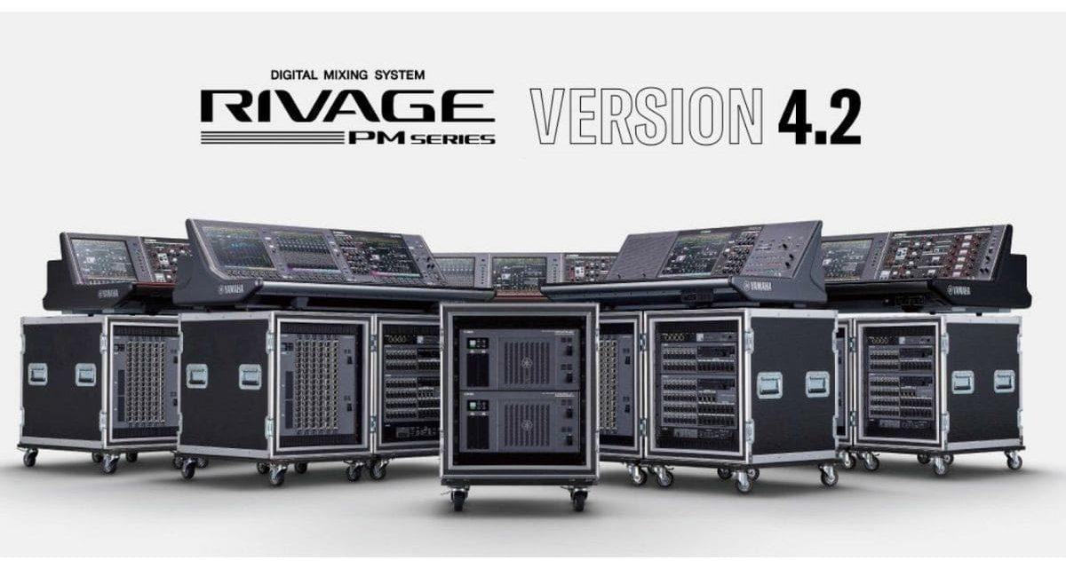 Mise à jour Yamaha RIVAGE PM et Carte d'extension
