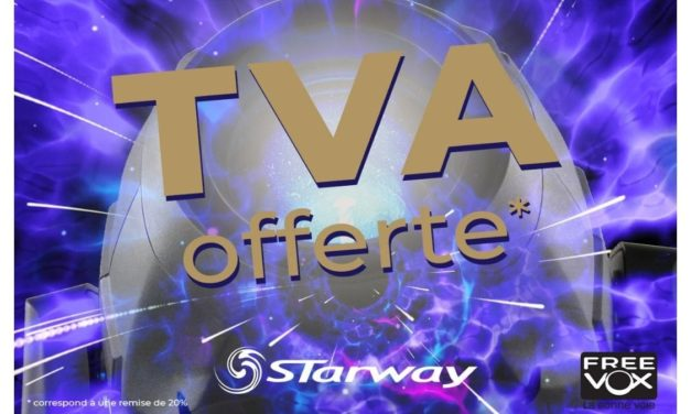 FREEVOX offre la TVA* sur STARWAY !